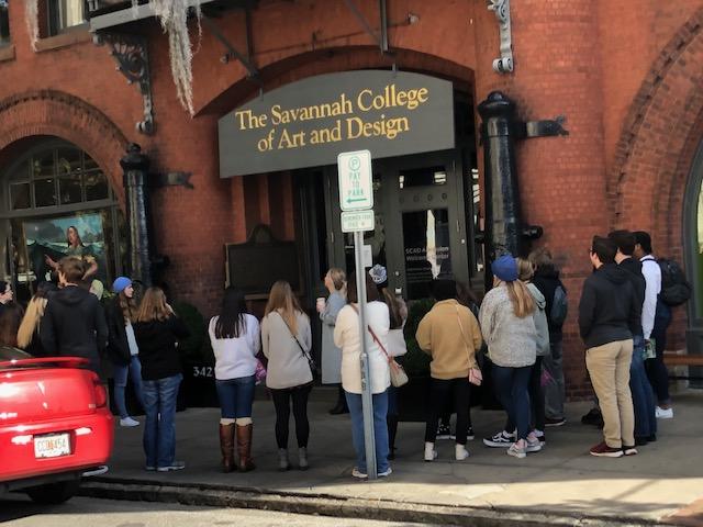 Juniors and senior students tour SCAD.