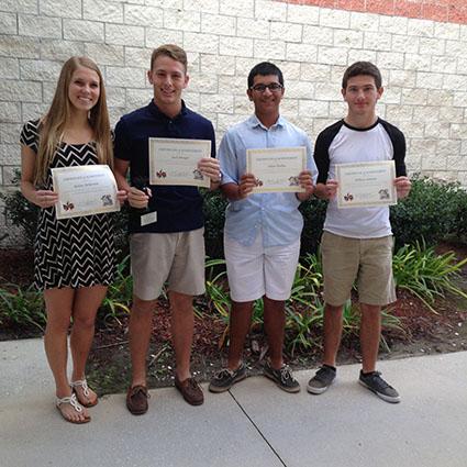 2015 Student Volunteer Nominees